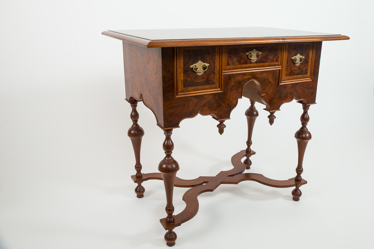 Reproduction William and Mary dressing table.
