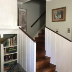after newel posts and balustrade