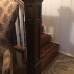 after 2 newel posts and balustrade