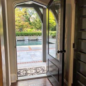 custom arched door, frame for home renovation in delaware county pa