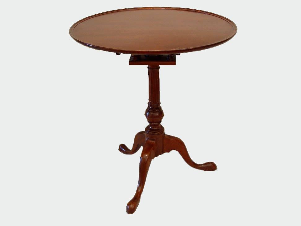 Tilt Top Tea Table is handmade Blackburn Furniture