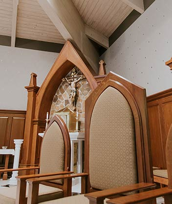 Blackburn Furniture french fitting tools after completion of the St Maximillian Church project