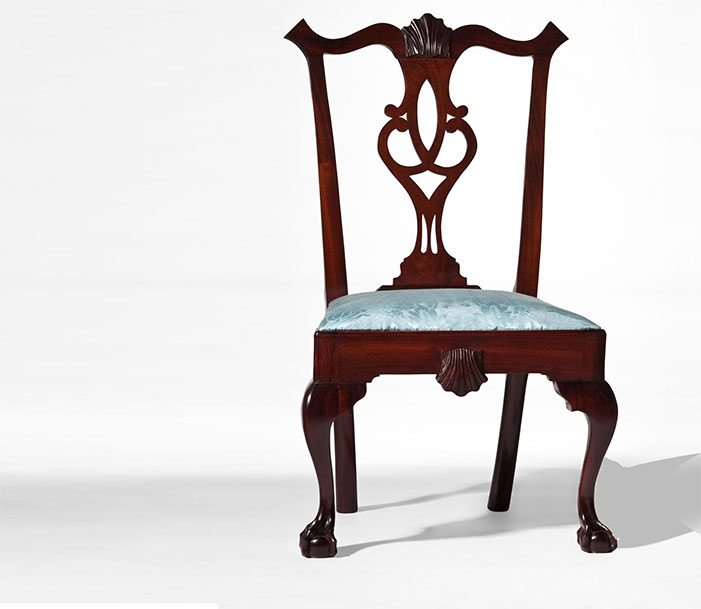 Mahogony Chippendale Chair original design by Thomas Chippendale. Period Furniture