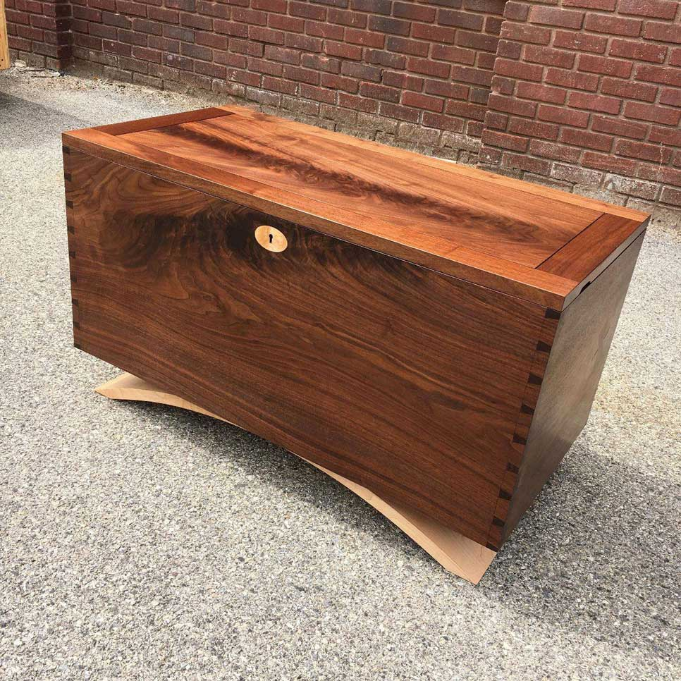 blackburn furniture makers handcrafted wooden blanket chest