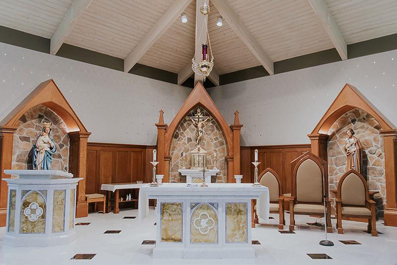 St. Maximillian Kolbe Catholic Church Renovation Job Blackburn Furniture West Chester, PA
